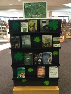 Display of books about Ireland/from Irish writers. Created for St. Patrick's Day at Farmington, CT Libraries.
