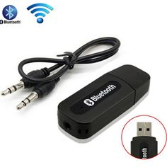 Mini Media Receiver USB Wireless Bluetooth Stereo Music Receiver Dongle Kit With 3.5mm Jack Audio Cable For Xiaomi Samsung HTC