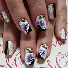 May Nails, Nails & Co, One Stroke Nails, Stylish Nails, Coffin Nails, Pedicure, Nail Art Designs, Hair Beauty, Blue Nails