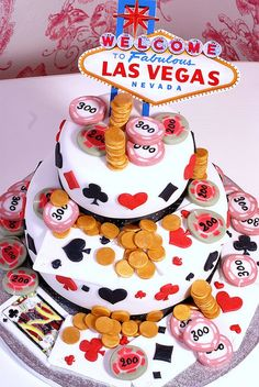las vegas; @Kristin Mitchell can you make me a small version of this for a wedding shower?