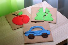 Felt puzzles / Купить Паззлы из фетра для самых маленьких - развивающая игрушка, развивающие игрушки, развивайка, паззл