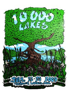 10,000 Lakes Festival day panel  Detroit Lakes, MN  Screen print by Robert Marx (signed and numbered) $20