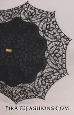 Whether ye be a high fashion lady of London n' Paris who need the perfect accessory fer yar fine gown, or an everyday wench just trying to keep the sun off at festivals, here be arrrrrr Lace Parasol.