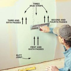 How to Tape Drywall Like a Pro: Expert Tips Using Drywall Mud Tools Drywall Sander, Drywall Tape, Drywall Mud, Drywall Repair, Connecticut, Drywall Finishing, Basement Finishing, Hanging Drywall, Gypse