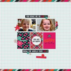 Just So Happy by Lauren Grier (July 2014 printable pack at Scrap Stacks)