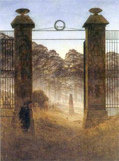 The Cemetery Entrance - Caspar David Friedrich