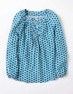 I've spotted this @BodenClothing Cotton Brondesbury Top Blue Dandelion
