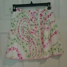 J.Crew Floral skirt Floral Jcrew skirt. Great condition J. Crew Skirts