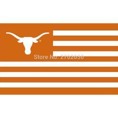 Texas Longhorns UT Flag For Alumni Nation Basketball Ncaa College Flag University Of Texas Longhorn Flag USA With Stripes Flag