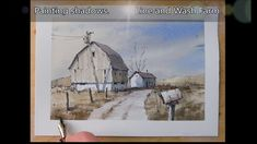 Paint a Mailbox and Farm Scene. Great shadow Demo in Watercolor. Peter Sheeler - New Ideas Watercolor Barns, Pen And Watercolor, Watercolor Paintings, Barn Paintings, Watercolor Ideas, Peter Sheeler, Watercolour Tutorials, Painting Tutorials, Painting Process