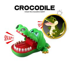 Gags Practical Jokes toy Crocodile dentist parent-child funny game Family interactive toy Gifts For boy girl Kids children #Affiliate