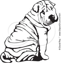 Google Image Result for http://images.clipartof.com/small/21501-Clipart-Illustration-Of-A-Wrinkled-Chinese-Shar-Pei-Dog-Sitting-And-Looking-Back-Over-His-Shoulder.jpg