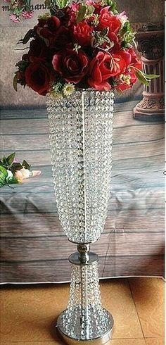 2016 nouvel an grand acrylique cristal de plomb de la route de mariage pièce maîtresse de mariage parti événement décoration / fleur porte - présentoir