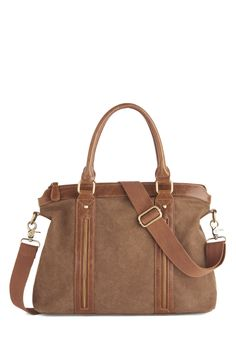 Facts and Figures Bag. You show off your accounting skills on the daily - now put your style on display with this auburn-brown satchel! #brown #modcloth