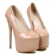 Elegant Solid Color and Sexy High Heel Design Women's Pumps, NUDE, 36 in Pumps | DressLily.com