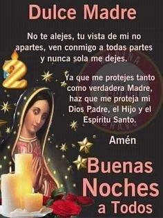 Good Night Prayer, Good Night Blessings, Good Night Quotes, Jesus Is Lord, God, Spanish Prayers, Happy Birthday Flower, Religion, Blessed
