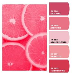 Paint colors from Chip It! by Sherwin-Williams Colour Pallette, Color Combos, Seeds Color Schemes, Red Paint Colors, Pallet Painting, Composition, Design Seeds, Pink Grapefruit, World Of Color