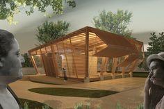 backyard design – Gardening Tips Bamboo Architecture, Tropical Architecture, Interior Architecture, Interior Design, Arch Model, Tropical Design, Roof Design, Landscape Design, Landscape Steps