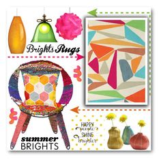 """""""BRIGHT RUGS"""" by purplerose27 ❤ liked on Polyvore featuring interior, interiors, interior design, home, home decor, interior decorating, Unitex International, Dot & Bo, Moooi and Tech Lighting"""