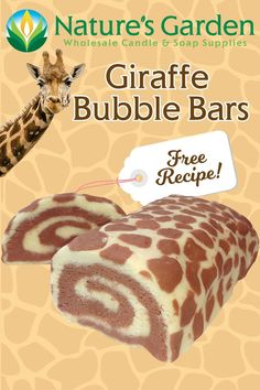 Free Giraffe Bubble Bars Recipe by Natures Garden