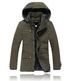 Men's Military Style Hoodies Thick Winter Sherpa Fur Lined Coat Jacket Parka   eBay