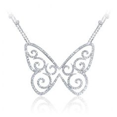 | Messika Butterfly Garden Pendentif Arabesque Pave