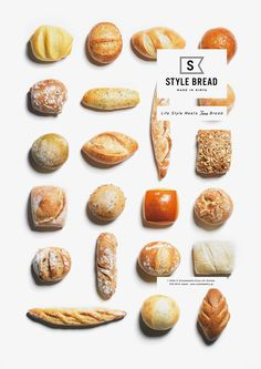 Ideas For Bread Shop Design Japan Food Graphic Design, Menu Design, Food Design, Bakery Branding, Bakery Logo Design, Bread Brands, Bread Packaging, Bread Shop, Bread Shaping