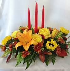 flowers with candles centerpieces - Google Search