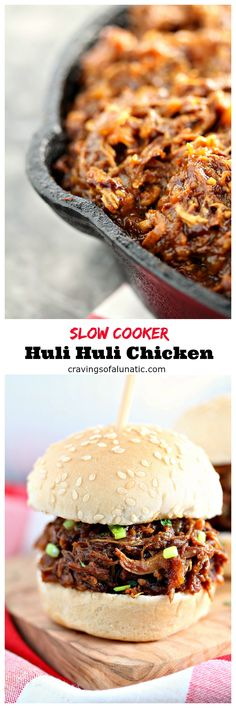 This Slow Cooker Huli Huli Chicken is the ultimate set it and forget it recipe. The flavour is so intense that its hard to believe how easy this is to make. This will become your familys favourite chicken recipe! Crock Pot Recipes, Crockpot Dishes, Crock Pot Slow Cooker, Crock Pot Cooking, Slow Cooker Chicken, Turkey Recipes, Slow Cooker Recipes, Chicken Recipes, Cooking Recipes