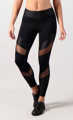 *EQ  Black with mesh legging BFL7015BWM