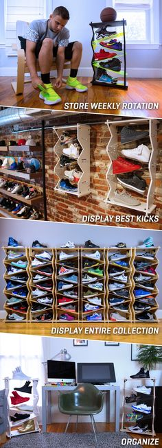 Perfect for sneaker lovers, Sole Stacks is the best way to display and store shoes in a way that is both engaging and space efficient.