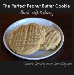 The PERFECT Peanut Butter Cookie Recipe! You'll never try another recipe :)