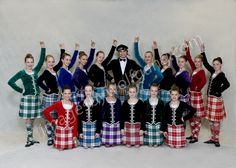 Back row, from left - kilt with black jacket & back row, in the middle - kilt on male dancer Royal Blue Dresses, Purple Dress, Dress Red, Green Dress, Purple Jacket, Green Jacket, Back Row, Front Row, Highland Games