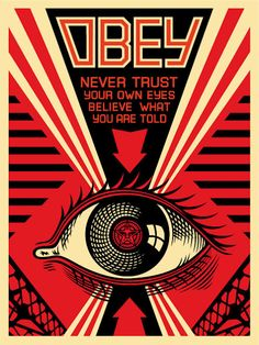 Obey propaganda ; I seen this on a shirt at a Swap Meet and couldn't believe it. !!!
