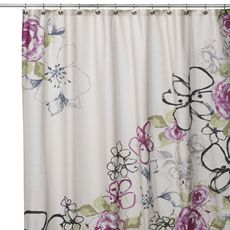 Or this for the shower curtain in the bathroom.  What's everyone's first reaction to this?