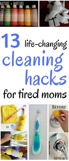 These cleaning ideas will totally simplify your life! Perfect for tired moms, dads, or anyone else out there who just doesn't like cleaning.