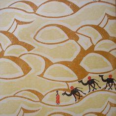 #wallpaperwednesday detail from #edwardbawden #sahara #wallpaper 1928