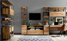 I love the west elm Modern Rustic Media Room on westelm.com/