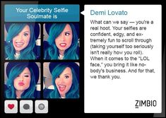 I took Zimbio's celebrity selfie quiz and my selfie soulmate is Demi Lovato! Health And Fitness Expo, Health And Fitness Articles, 30 Day Challenge, Workout Challenge, Celebrity Selfies, Personality Quizzes, Demi Lovato, Funny Faces, Things To Come