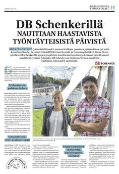 """Tämän päivän Ilta-Sanomien (IS 18.10.2013) Tulevaisuuden työnantajat 2013 -liitteessä kirjoittamani ja kuvittamani artikkeli """"DB Schenkerillä nautitaan haastavista työntäyteisistä päivistä"""""""