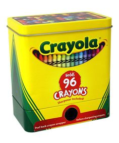 Look what I found on #zulily! Crayon Storage Tin With Sharpener by The Tin Box Company #zulilyfinds