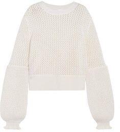 McQ Alexander McQueen - Open-knit Wool Sweater - Ivory Mcq Alexander Mcqueen 962c2d637