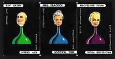 Vintage Cluedo character cards