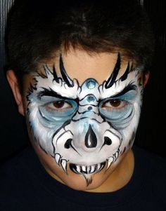 Christina Davison Ice Dragon with Jewels Face Painting