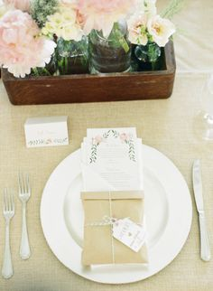 Shabby Chic Place Settings | Sweet Tea Photography | TheKnot.com