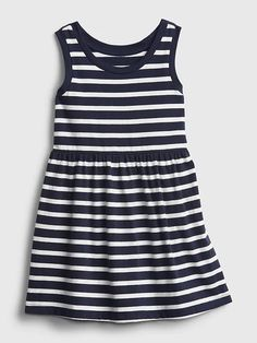 Toddler Stripe Dress   Gap Gap Kids, Navy Stripes, Striped Dress, Fit And Flare, Toddler Girl, How To Wear, Clothes, Dresses, Products