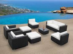 Outdoor Patio Furniture Wicker Sofa Sectional Resin Couch Set Item# 5439 – … - All For Garden Cheap Patio Furniture, Best Outdoor Furniture, Wicker Furniture, Wicker Sofa, Furniture Sets, Simple Furniture, Furniture Cleaning, Furniture Websites, Inexpensive Furniture
