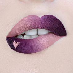 Ombre lip art