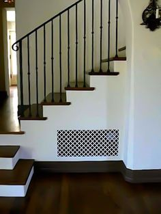 A large Plaster Register from Pacific Register Company in a Gothic Clover pattern.