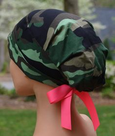 Scrub Hats    Scrub Caps    Scrub Hats for Women    The Hat Cottage    Small     Ribbon Ties    Camouflage 7c28f9d35